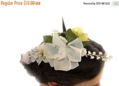 15% OFF VALENTINE SALE Camellias Romantic Fascinator white camellias and yellow lovely brooch Fascinator