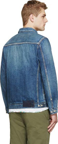 Visvim Blue Denim Damaged Jacket