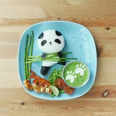 Panda bear bento by Samantha Lee