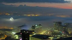 January fog in Liverpool