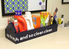 Awesome organization for laundry room!