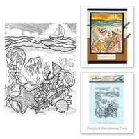 Spellbinders - Aquatic Scene Stamp from the Spring Love Collection by Stephanie Low