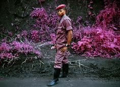 This incredible collection of photos entitled INFRAfrom Eastern Congo was shot by photographer Richard Mosse using discontinued Kodak Aerochrome film. Mosse chose this infrared film to intentionally subvert traditional photos Infrared Photography, War Photography, Documentary Photography, Color Photography, Photography Exhibition, Artistic Photography, Amazing Photography, Landscape Photography, Photography Ideas