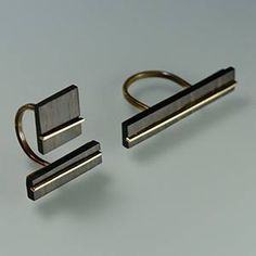 Alessandra Pasini (Pasa Gioielli), Ebony and copper rings