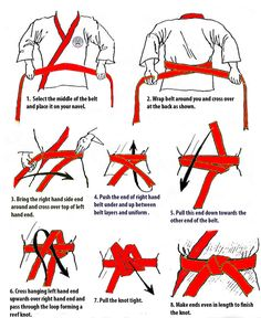 how to tie karate belt - Google Search More