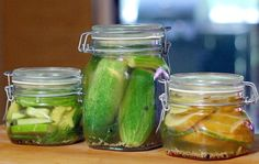 Easy DIY Pickles In Your Refrigerator! --> http://www.hgtvgardens.com/refrigerator-pickles-recipe?soc=pinterest