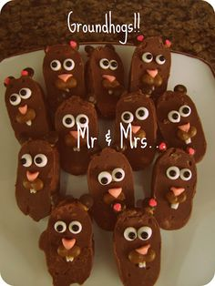 Groundhog Day Cupcakes