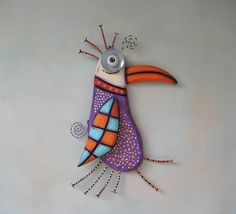 Hey, I found this really awesome Etsy listing at https://www.etsy.com/listing/226182215/purple-penguin-original-found-object