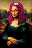 pink haired Mona Lisa