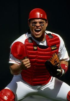 Ivan Pudge Rodriguez of the Texas Rangers poses prior to a game against the Colorado Rockies on July 3 1997 in Arlington Texas Mlb Texas Rangers, Rangers Baseball, Baseball Boys, Mlb Players, Baseball Players, Puerto Rico, Cy Young, Detroit Tigers, Dream Team