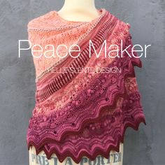 Peace Maker shawl by HELLE SLENTE DESIGN | knitting pattern | lace knitting