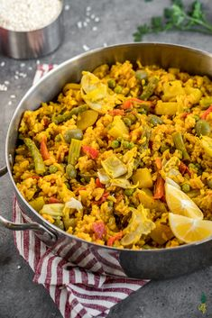 The ultimate loaded vegan paella! This recipe is healthy, made with fresh whole food ingredients, bursting with beautiful color, and one that is meant to be shared with the ones you love.