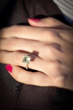 15 Non-Traditional Engagement Rings Worth Considering - Prasiolite