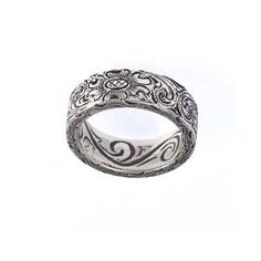 Silver King Engraved Ring The Maverick Western Wear
