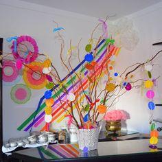 Festa de aniversário; Tema o arco íris - Decoração (2014)