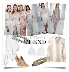 """Hot NYFW Runway Trend"" by zenstore ❤ liked on Polyvore featuring Jacquemus, Brock Collection, Joseph, Lipsy and NYFW"