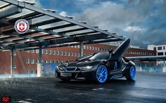 BMW i8 with HRE S201H Wheels in Frozen iLectric Blue - http://www.bmwblog.com/2017/03/10/bmw-i8-with-hre-s201h-wheels-in-frozen-ilectric-blue/