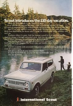 Vintage 1973 International Scout Vintage magazine ad that has been carefully extracted from National Geographic Magazine. Measures approximately. 7 inches wide x 10 inches tall. This is an original fr