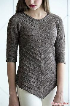 Knitted Yarn Patterns and Knitting Tutorials - Iryna Lipska Knitted Yarn Patterns and Knitting Tutorials Beatrice Perron Dahlen Pointed Tunic knit. Crochet Tunic Pattern, Sweater Knitting Patterns, Knitting Stitches, Knitting Designs, Knit Crochet, Knitting Tutorials, Knitting Sweaters, Knitting Daily, Summer Knitting