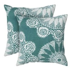 I pinned this Adari Medallion Pillow in Teal (Set of 2) from the Perfect Pair event at Joss and Main!
