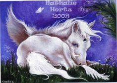 ACEO Limited Edition Hand Embellished Print Pegasus by danaelola