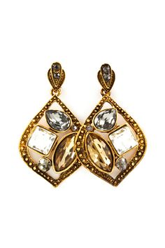 Josephine Earrings in Champagne