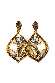 Josephine Earrings in Champagne