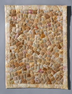 Security Blanket. Ruth Tabancay makes fabulous quilts made out of tea bags.