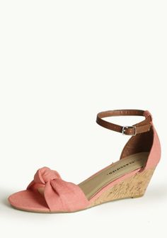 Solana Beach Peep Toe Wedges In Coral - size 8 New Mens Fashion Trends, Women's Fashion, Coral Wedges, Solana Beach, Florida Fashion, Bridesmaid Shoes, Shoes Photo, Peep Toe Wedges, Crazy Shoes