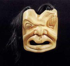 Shaman Wolf Transformation Mask by Ron Telek, Nisga Nation.