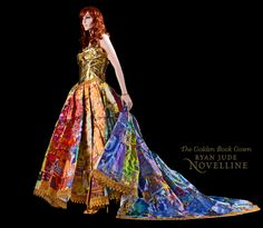 """There are not too many things that make me say, """"Wow!"""" But, holy cow, when I came across this Golden Book Gown by Ryan Jude Novelline, I was absolutely amazed and I thought you might en…"""