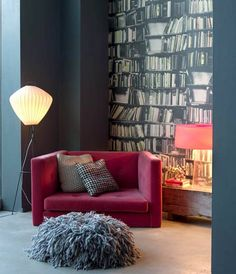 Book-case wall paper, YESSS and yes!