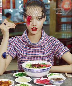 Peking Lady: Meng Zheng for Harper's Bazaar China January 2016 - Chanel
