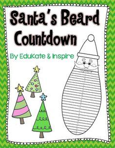 Santas Beard Countdown to Christmas! {Freebie!}