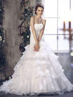 ウエディングドレス プリンセス ビスチェ チャペルトレーン B12060