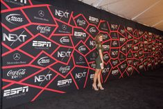 Cool step and repeat at 'ESPN the Magazine' Next Event