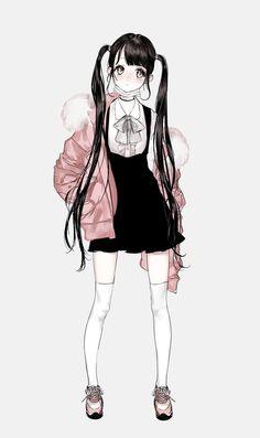 classic irony - Back Manga Anime, Manga Kawaii, Anime Oc, Kawaii Anime Girl, Anime Chibi, Anime Girl Cute, Beautiful Anime Girl, Anime Art Girl, Anime Girl Dress