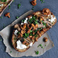 Beautiful Mushroom Brushetta from Turntable Kitchen