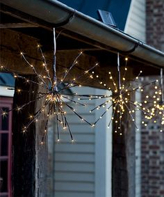 Hanging Solar Twig Light Set Of Two Zulilyfinds Outdoor Lightingoutdoor