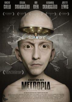 """MP051. """"Metropia"""" American Movie poster by Martin Hultman (Tarik Saleh 2009) / #Movieposter"""