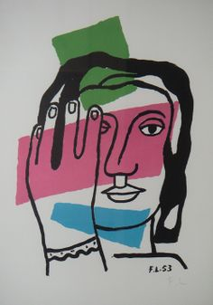 Fernand Leger, Head of a Woman Fabulous holiday gift to brighten your home