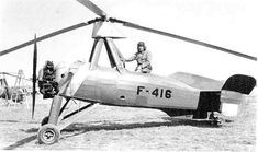 Lieutenant (R) Guy Orsel of French Air Force in his O C.30 autogyro - Collection © Guy Orsel.