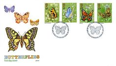 GREAT BRITAIN STAMP ELIZABETH 11 FIRST DAY COVER 1981 BUTTERFLIES