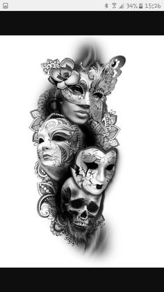 tattoo k& tattoo designs diamant tattoos cameo tattoo jeff . Skull Tattoos, Leg Tattoos, Body Art Tattoos, Girl Tattoos, Tattoos Pics, Henna Tattoos, Fake Tattoos, Tattoo Images, Venetian Mask Tattoo