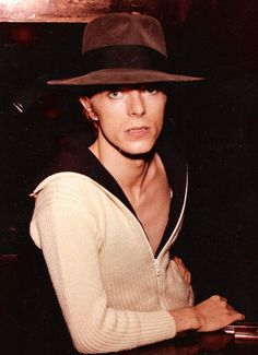 "soundsof71: ""David Bowie, Milwaukee 1974, by Dean Francis Halonen . Nice hat, man. (Pic via DavidBowie.com. EXCELLENT story of the photo here.) """