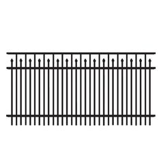No Dig Grand Empire Powder Coated Steel Decorative Fence