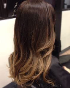 Ombre balayage Hair Color for Brunettes | Hair By Natalia - Soft caramel honey Balayage highlights for brunettes ...
