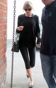 Maintenance: Taylor Swift was spotted heading into Ballet Bodies studio in West Hollywood on Saturday to work on her amazingly fit body at t...