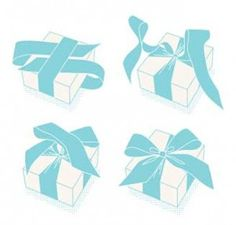 Tying a bow around a gift box