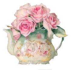 gifs - Page 8 Vintage Tea, Vintage Flowers, Vintage China, Tee Kunst, Coming Up Roses, Tea Art, Decoupage Paper, Vintage Ephemera, Pretty Pastel